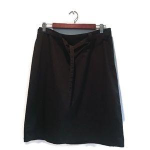 NWT Banana Republic Skirt, black, 100% Cotton, 12